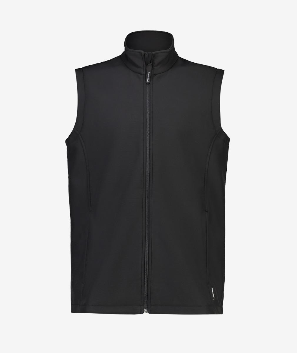 Swanndri Men's Coleman Softshell Vest in Black