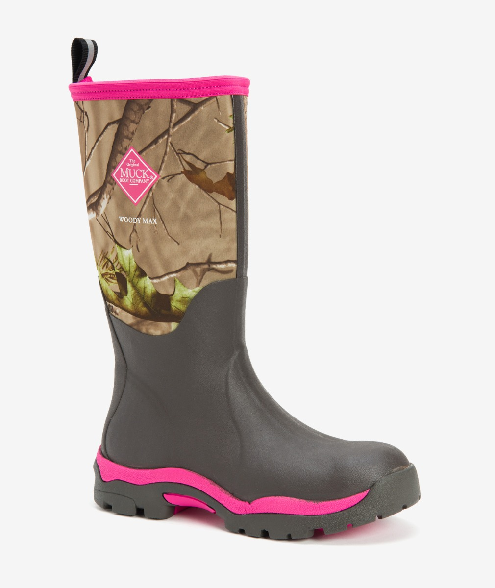 Muck Boot Women's Woody PK Versatile Hunting Boot in Pink